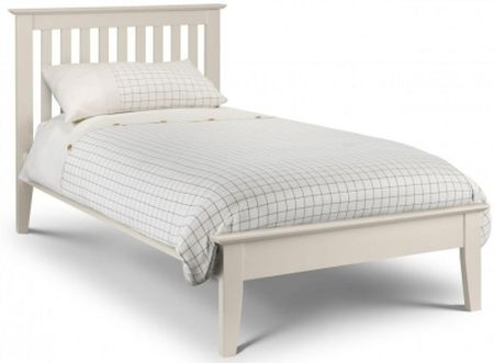 Julian Bowen Salerno Stone White Bed Frame