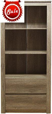 GFW Canyon Oak 2 Drawer Bookshelf